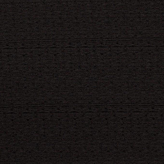 シルク&レーヨン×無地(ブラック)×かわり織 イメージ1