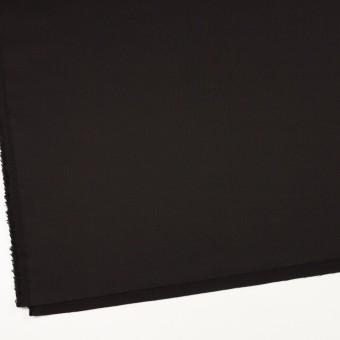 ウール&シルク混×無地(ブラック)×オーガンジー_イタリア製 サムネイル2