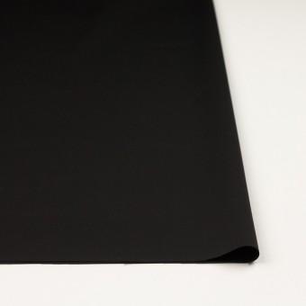 ウール&シルク混×無地(ブラック)×オーガンジー_イタリア製 サムネイル3