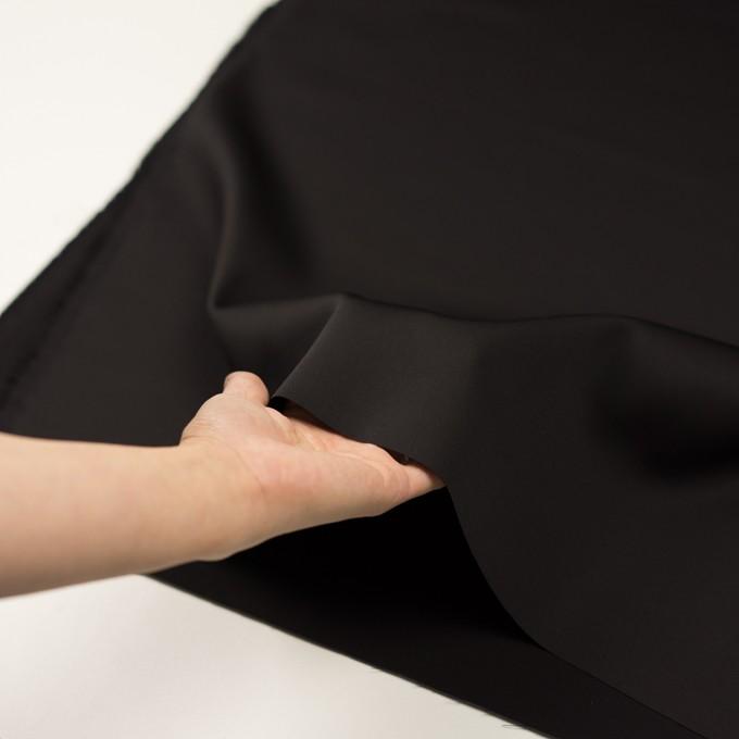 ウール&シルク混×無地(ブラック)×オーガンジー_イタリア製 イメージ5