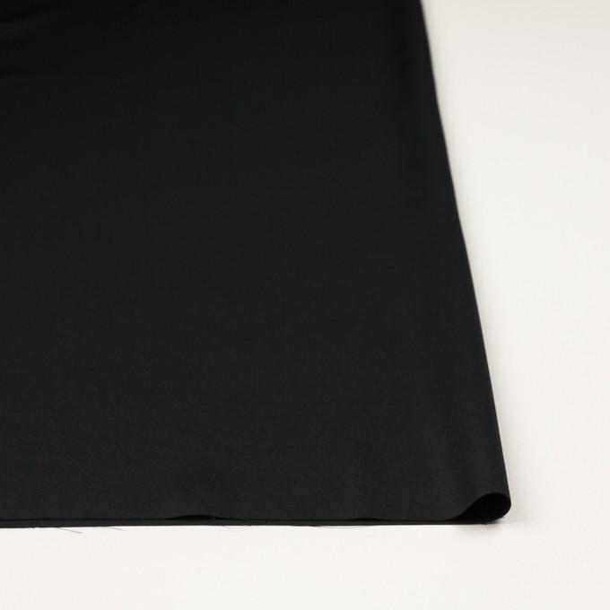 ポリエステル×無地(ブラック)×サテン イメージ3