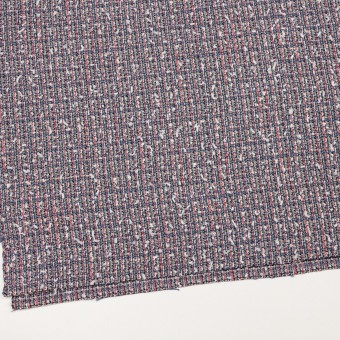 ウール&コットン混×ミックス(ヒヤシンスブルー&スカーレット)×ファンシーツイード_全2色 サムネイル2
