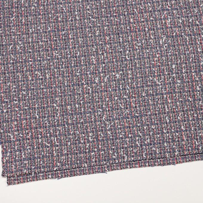 ウール&コットン混×ミックス(ヒヤシンスブルー&スカーレット)×ファンシーツイード_全2色 イメージ2