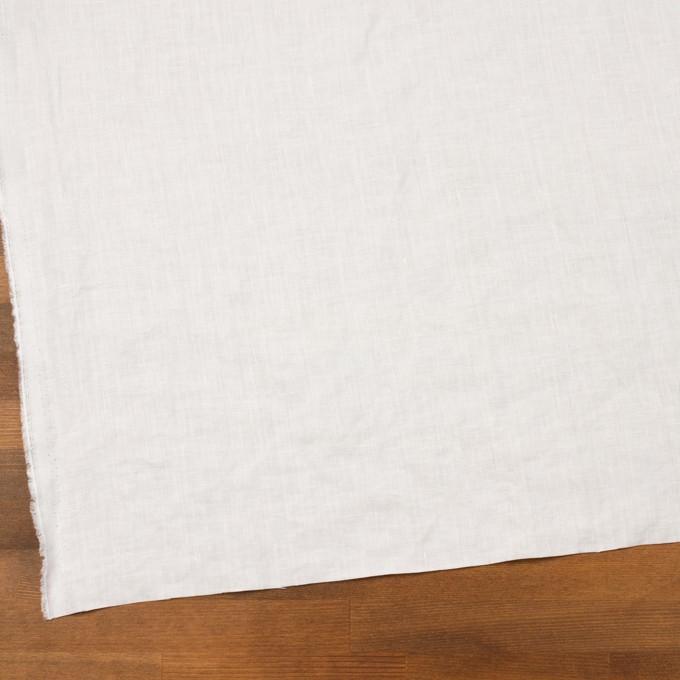 リネン×無地(ホワイト)×薄キャンバス_全25色 イメージ2