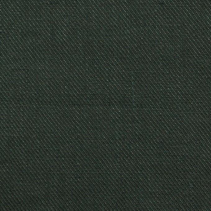 リネン×無地(ディープグリーン)×サージ_全22色 イメージ1