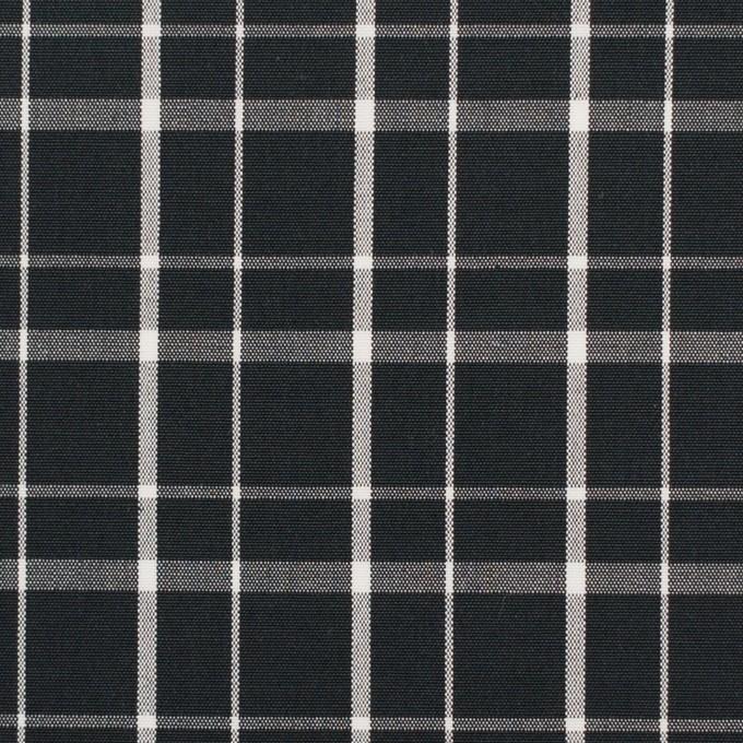 コットン×チェック(ブラック)×ブロード_全2色 イメージ1