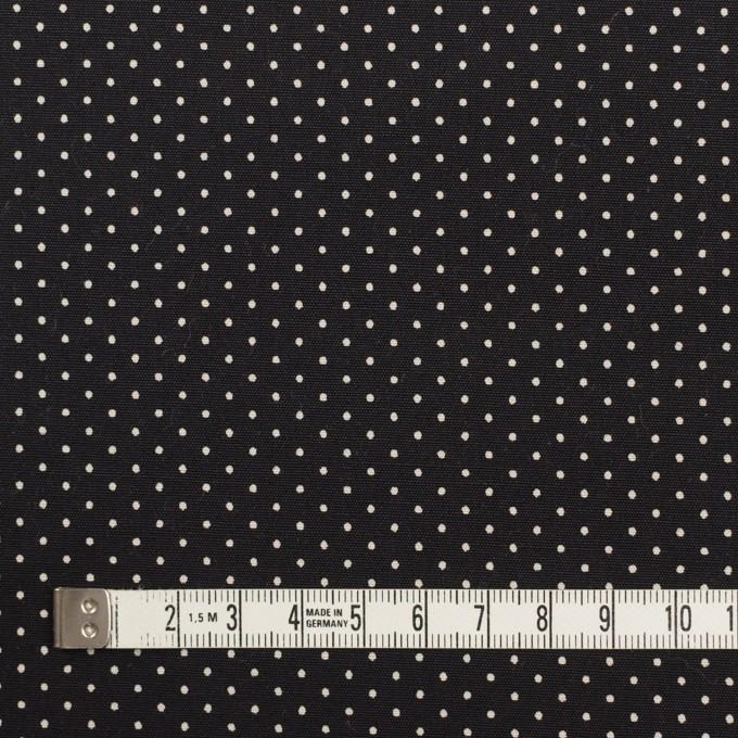 コットン×ドット(ブラック)×ポプリン イメージ4