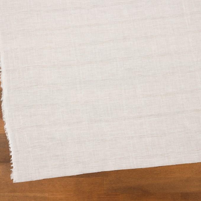 コットン×チェック(オフホワイト)×ボイル&からみ織 イメージ2