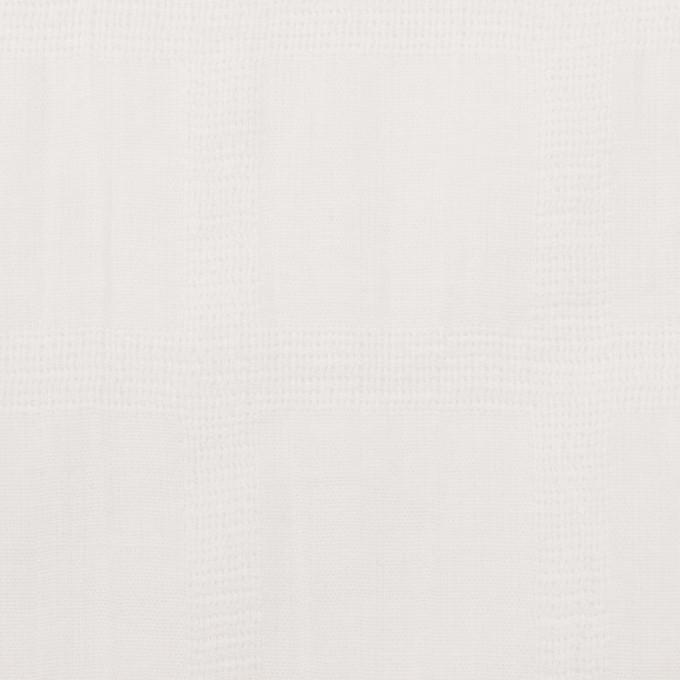 コットン×チェック(オフホワイト)×ボイル&からみ織 イメージ1