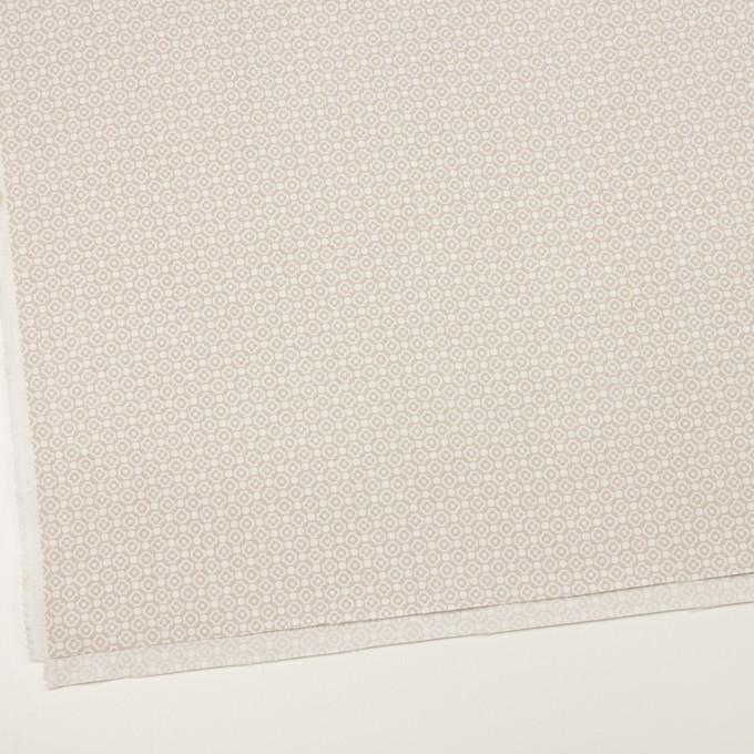 コットン&レーヨン×幾何学模様(グレイッシュベージュ)×グログラン イメージ2