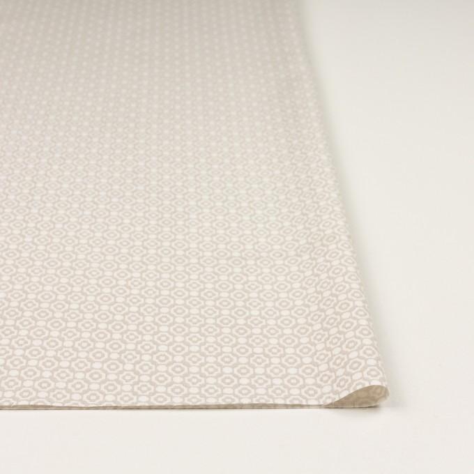 コットン&レーヨン×幾何学模様(グレイッシュベージュ)×グログラン イメージ3