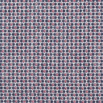 リネン×幾何学模様(トリコロール)×薄キャンバス_イタリア製