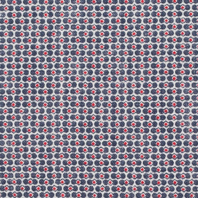リネン×幾何学模様(トリコロール)×薄キャンバス_イタリア製 イメージ1
