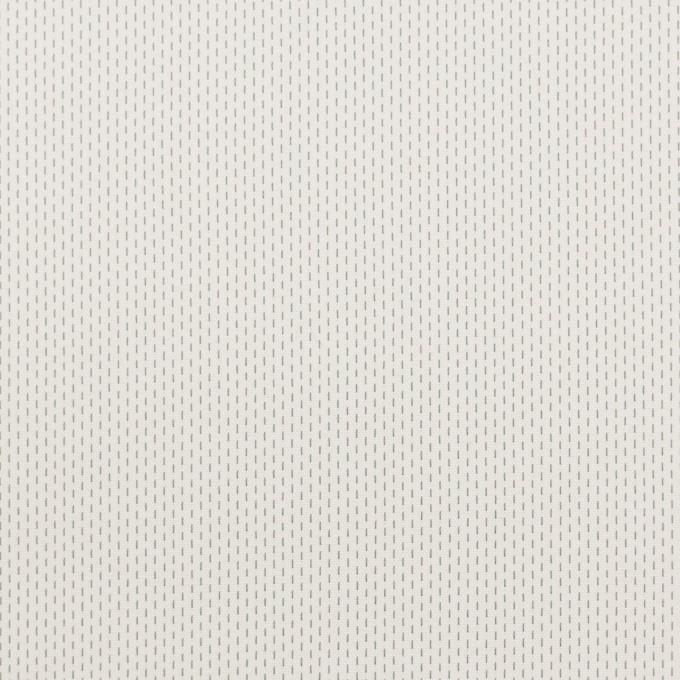 コットン&ポリエステル混×ストライプ(オフホワイト)×ブロードストレッチ刺し子_イタリア製 イメージ1