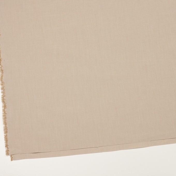 コットン×ボーダー(ベージュ)×シャンブレー_イタリア製 イメージ2