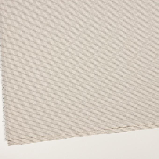 コットン&ナイロン×チェック(バニラ)×ブロード_イタリア製 イメージ2