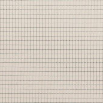コットン&ナイロン×チェック(バニラ)×ブロード_イタリア製