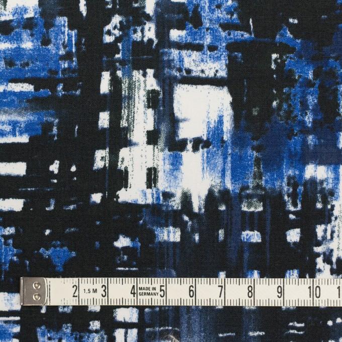 コットン&ポリウレタン×ペイント(マリンブルー)×ポプリンストレッチ_全2色 イメージ4