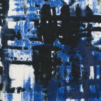 コットン&ポリウレタン×ペイント(マリンブルー)×ポプリンストレッチ_全2色