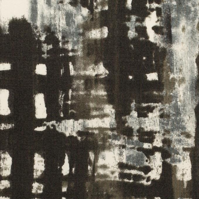 コットン&ポリウレタン×ペイント(チャコール)×ポプリンストレッチ_全2色 イメージ1