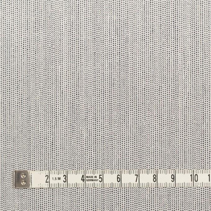 ウール&ポリウレタン×ミックス(アイボリー&ブラック)×かわり織ストレッチ イメージ4
