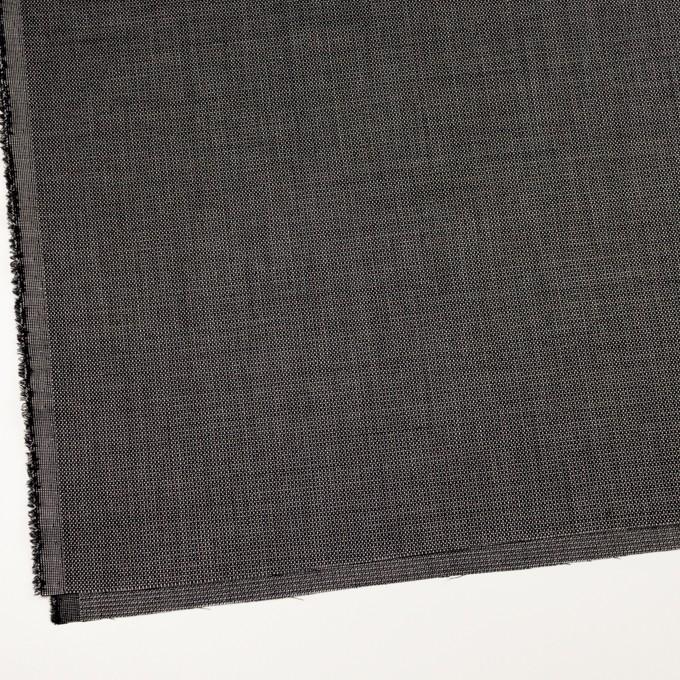 ウール&レーヨン×ミックス(ブラック)×かわり織 イメージ2