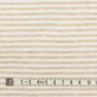 リネン×ボーダー(ミルク&ベージュ)×天竺ニット_全2色 サムネイル4