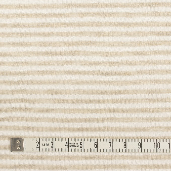 リネン×ボーダー(ミルク&ベージュ)×天竺ニット_全2色 イメージ4