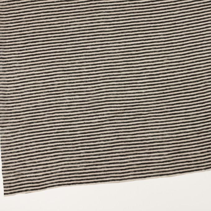 リネン×ボーダー(グレイッシュベージュ&ブラック)×天竺ニット_全2色 イメージ2