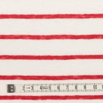 リネン×ボーダー(レッド)×天竺ニット_全2色 サムネイル4