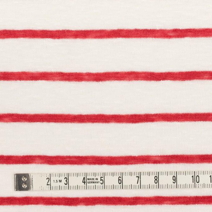 リネン×ボーダー(レッド)×天竺ニット_全2色 イメージ4