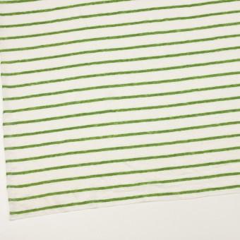 リネン×ボーダー(グリーン)×天竺ニット_全2色 サムネイル2