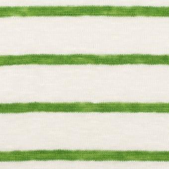 リネン×ボーダー(グリーン)×天竺ニット_全2色 サムネイル1