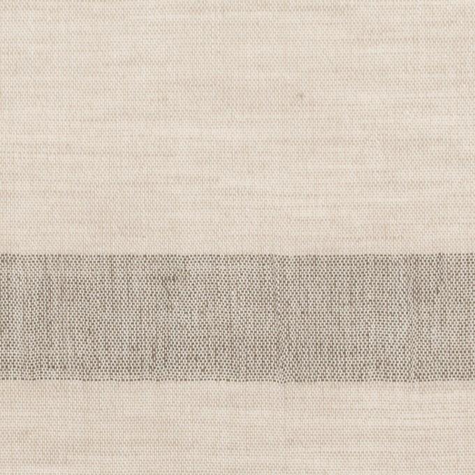コットン&リネン×ボーダー(グレイッシュベージュ)×ボイルジャガード イメージ1