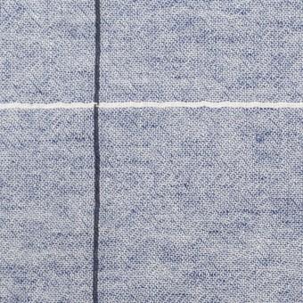 コットン×チェック(ネイビー)×シャンブレー・ガーゼ サムネイル1