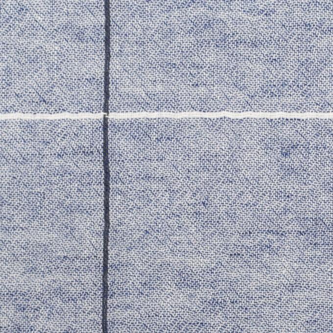 コットン×チェック(ネイビー)×シャンブレー・ガーゼ イメージ1