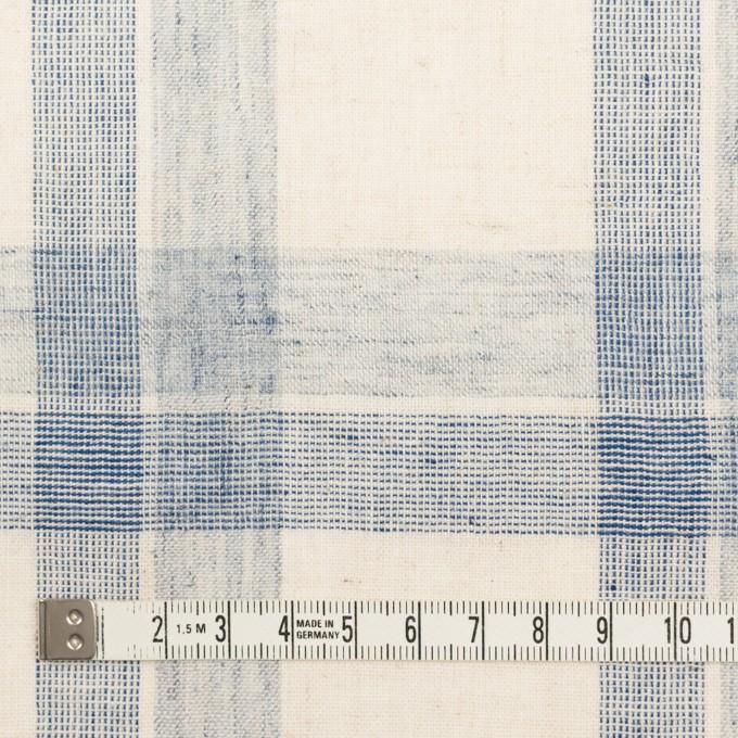 コットン&リネン混×チェック(キナリ&ブルーグレー)×シーチング イメージ4