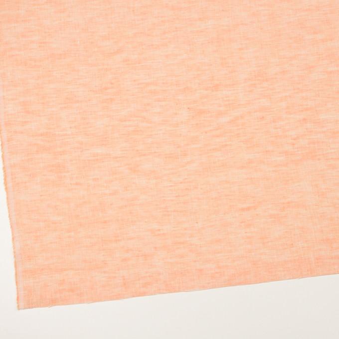 リネン×無地(オレンジ)×薄キャンバス_全4色 イメージ2