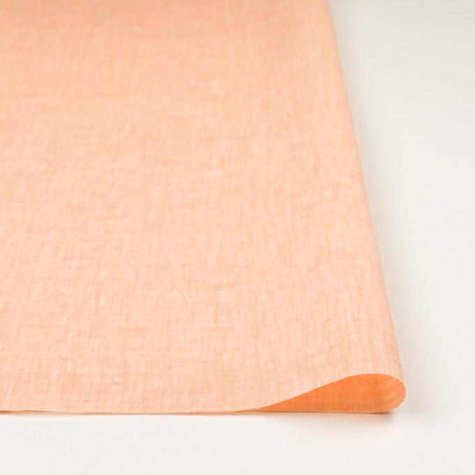 リネン×無地(オレンジ)×薄キャンバス_全4色 イメージ3