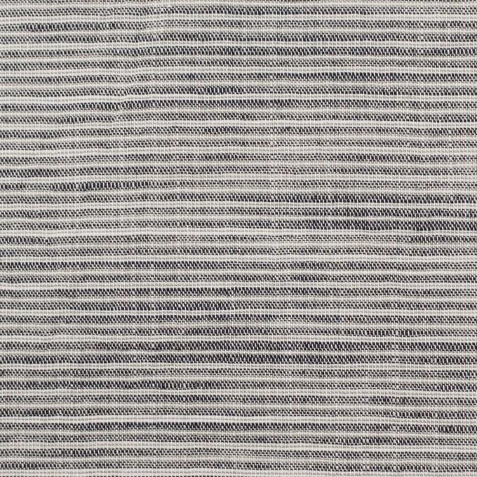コットン&リネン×ボーダー(チャコールグレー)×ボイルワッシャー イメージ1
