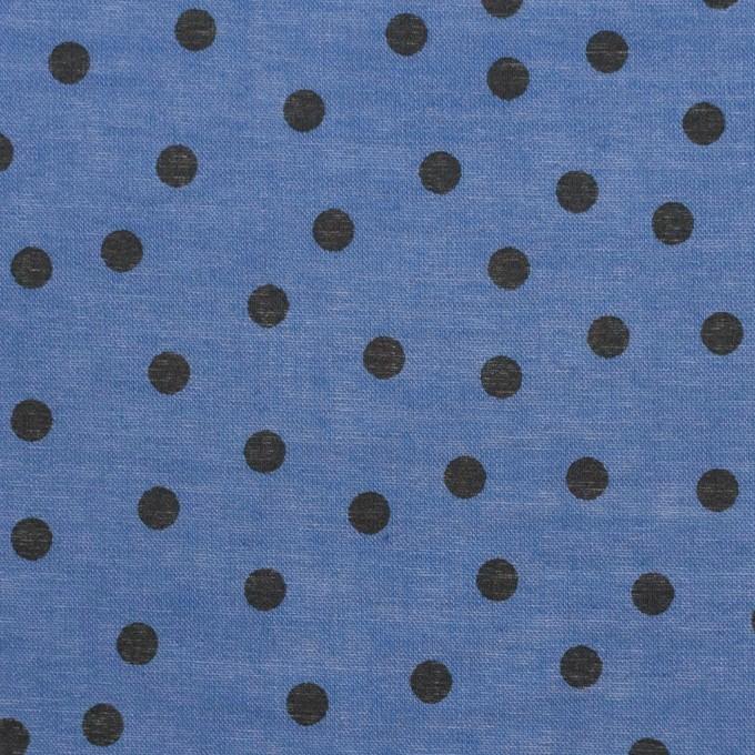 コットン×水玉(アッシュブルー)×ボイル_全3色 イメージ1