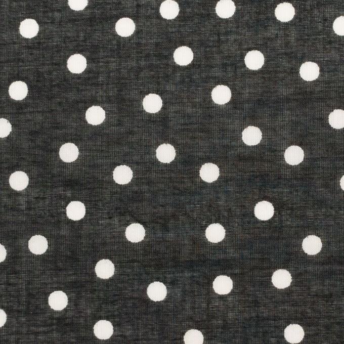 コットン×水玉(ブラック)×ボイル_全3色 イメージ1