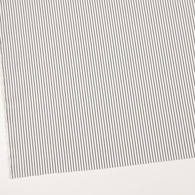 コットン&ナイロン×ストライプ(チャコール)×ブロード_イタリア製 イメージ2