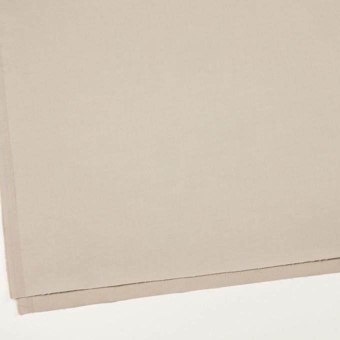 コットン×無地(グレイッシュベージュ)×二重織_全2色_イタリア製 イメージ2
