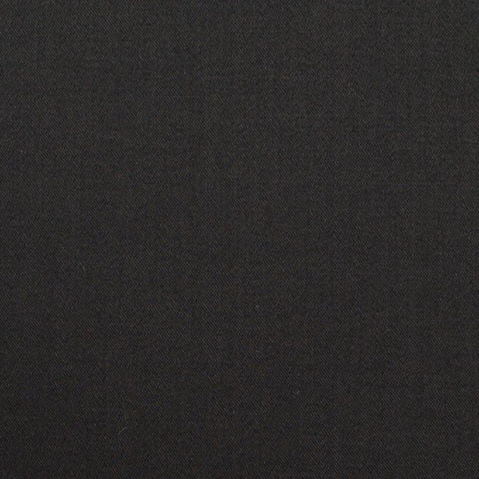 コットン&ポリウレタン×無地(ブラック)×サテンストレッチ イメージ1