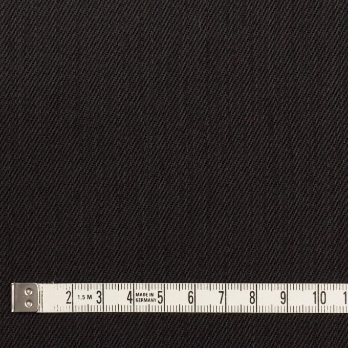 コットン×無地(チャコールブラック)×カツラギ イメージ4