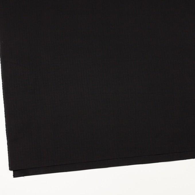 コットン&ポリウレタン×無地(ブラック)×リップストップ・ストレッチ イメージ2