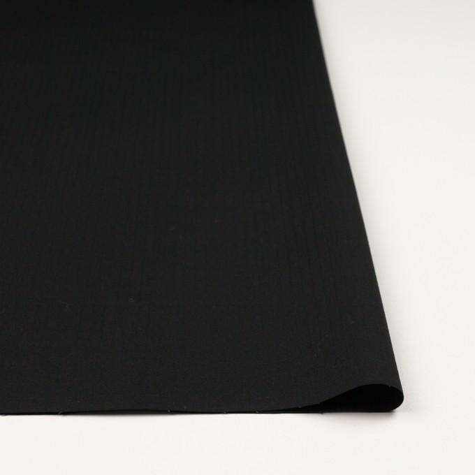コットン&ポリウレタン×無地(ブラック)×リップストップ・ストレッチ イメージ3