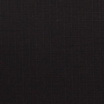 コットン&ポリウレタン×無地(ブラック)×リップストップ・ストレッチ