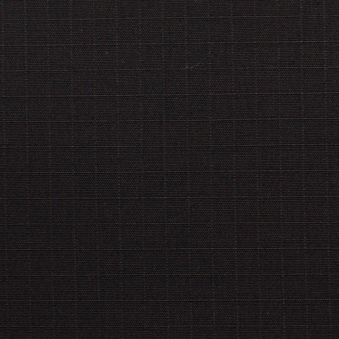 コットン&ポリウレタン×無地(ブラック)×リップストップ・ストレッチ イメージ1